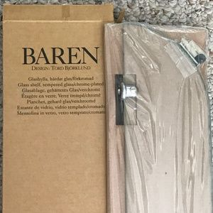 IKEA Wall Art - Ikea Baren Floating Glass Shelf - NEW IN BOX